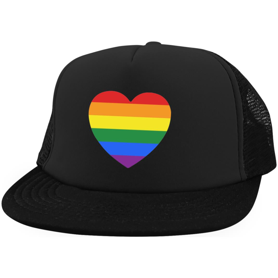 heart Rainbow Heart District Trucker Hat with Snapback