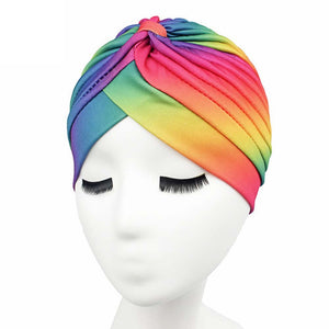 Rainbow Stretch Turban