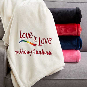 Love Is Love PersonalizedFleece Blanket