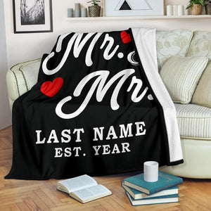 Personalize Blanket(Mr & Mr And Mrs & Mrs)