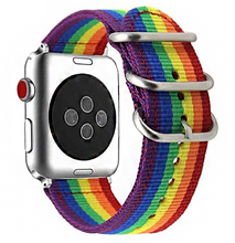 Load image into Gallery viewer, High End Pride Edition Woven Nylon band for Apple Watch