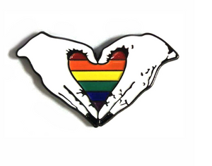 Exclusive LGBT Heart metal brooch pins