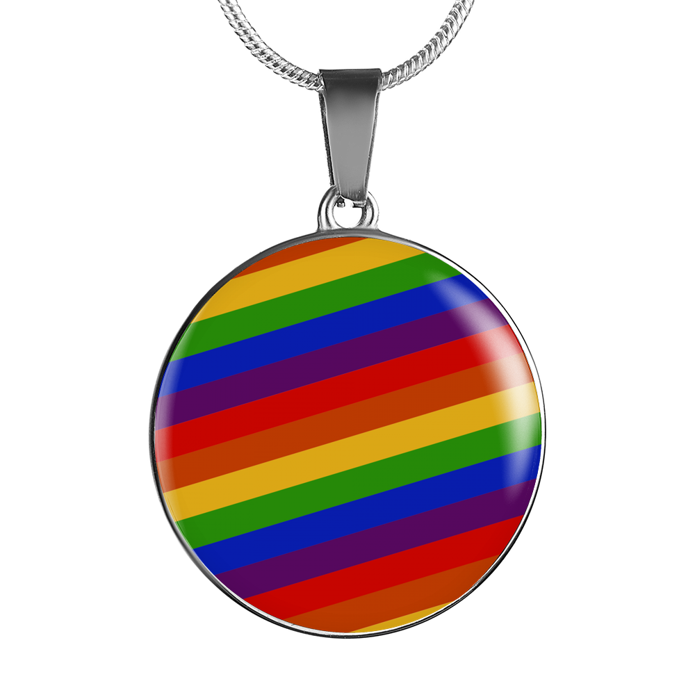 Handcrafted LGBT Rainbow Necklace