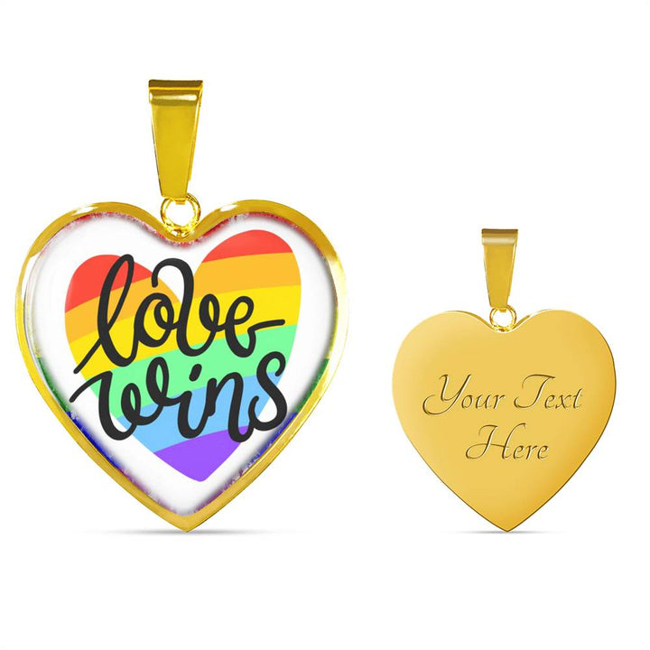 Special Holiday Season Love Wins Necklace