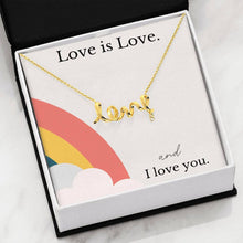 Load image into Gallery viewer, Love Is Love Spiral Necklace