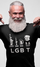 Load image into Gallery viewer, Liberty Guns Beer Trump Cotton T-Shirt
