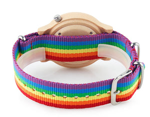 Pride Rainbow Wooden Watch