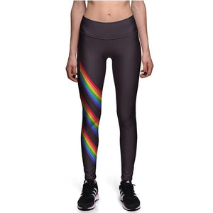 Rainbow Black Sports Leggings