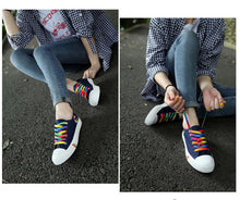 Load image into Gallery viewer, Pride Canvas Shoes** Woman Shoe Sizes