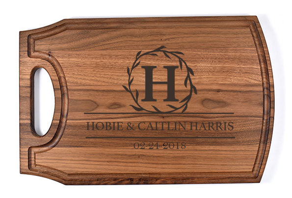 Personalized Arched Handle Cutting Board