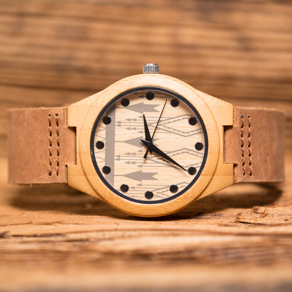 Bamboo Wooden Wrist Watch with Face Details