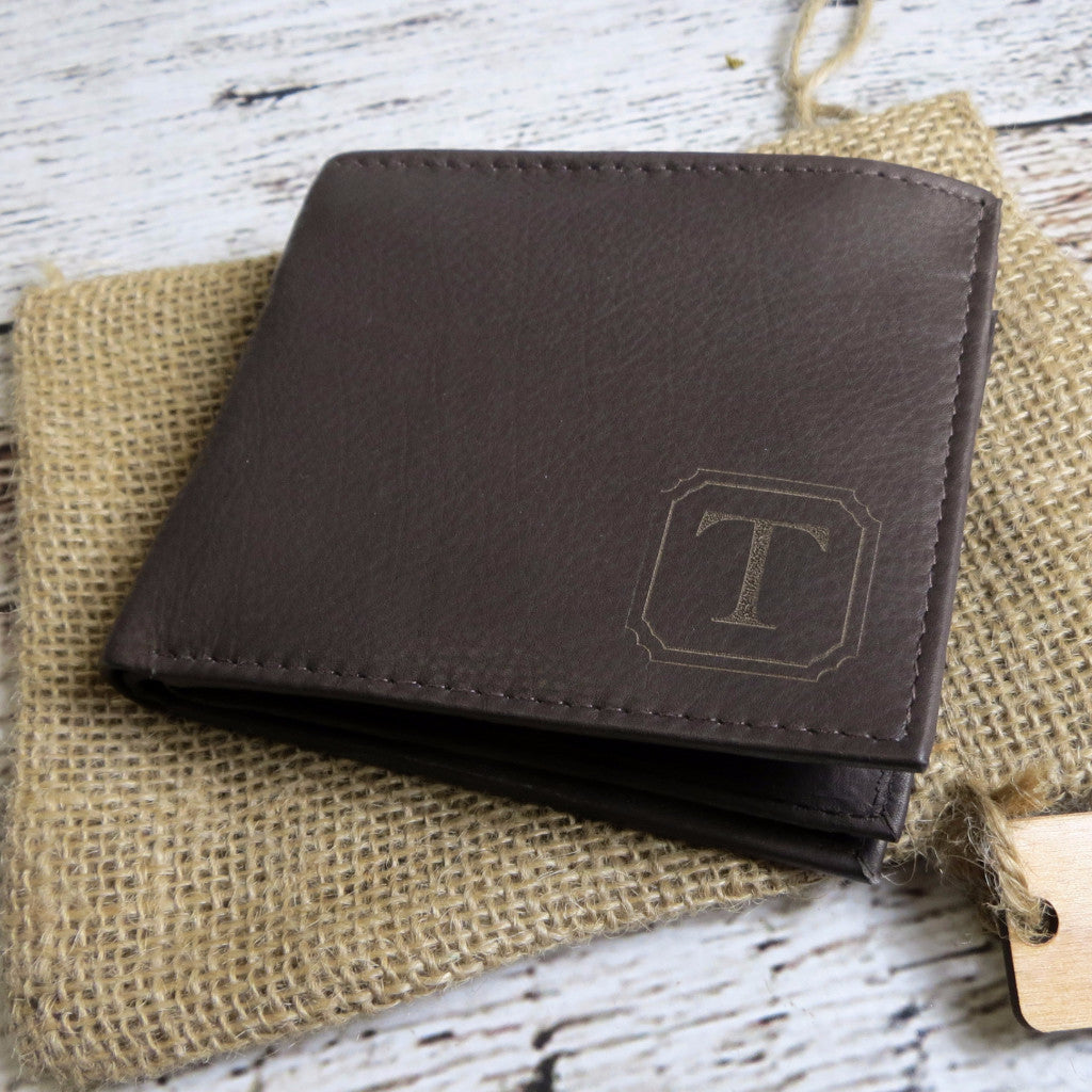 Brown Personalized Leather Wallet