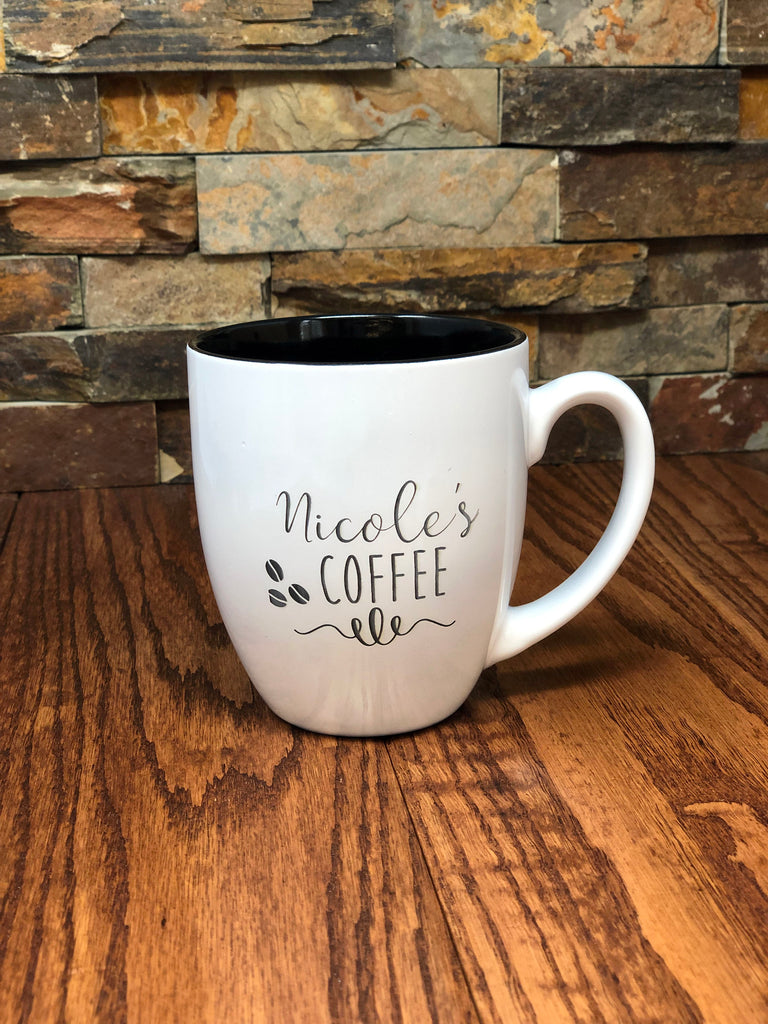 Personalized 16 oz Coffee Mug Bistro Style
