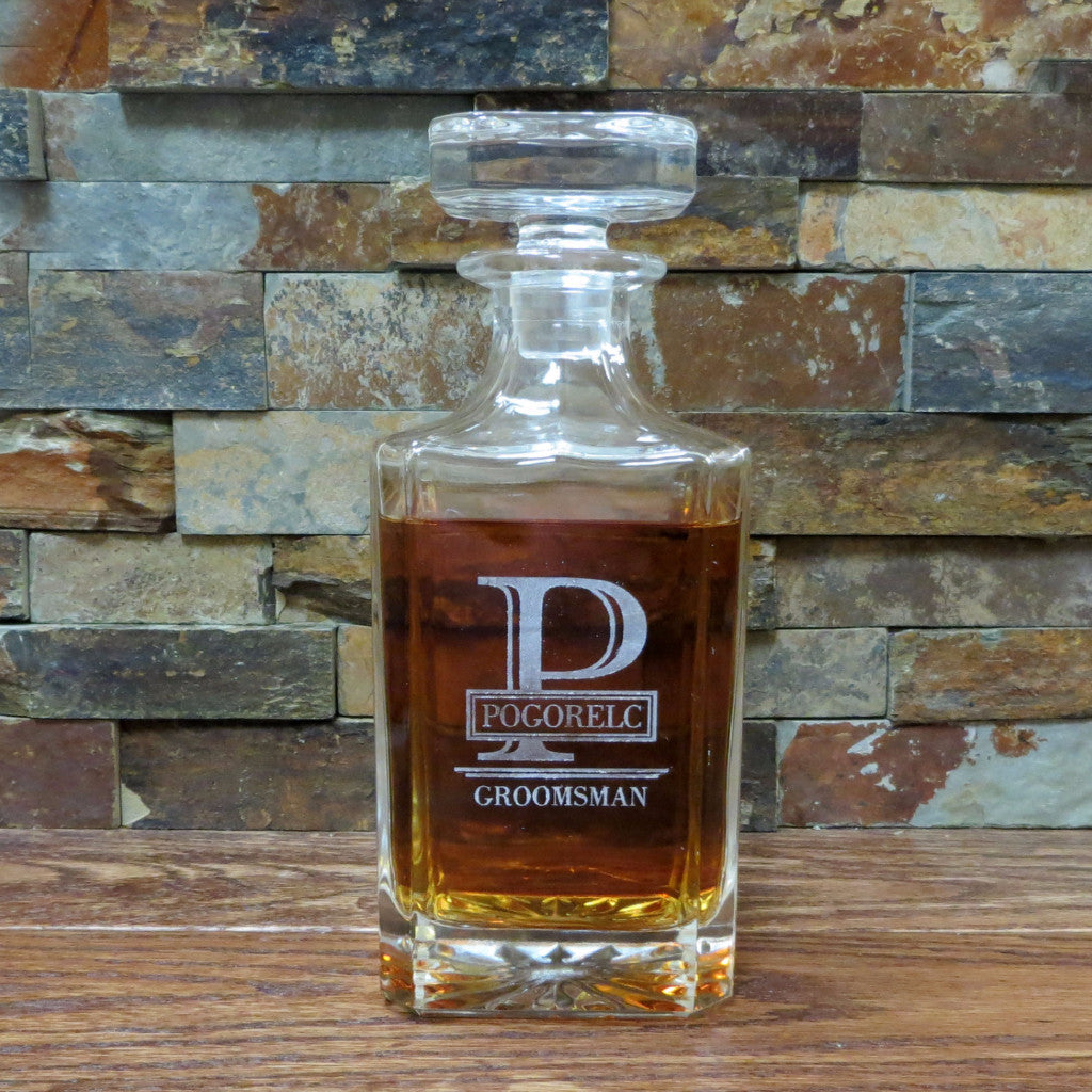 Square Personalized Whiskey Decanter