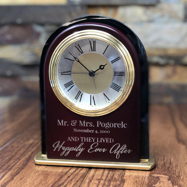 Personalized Mantle Alarm Clock