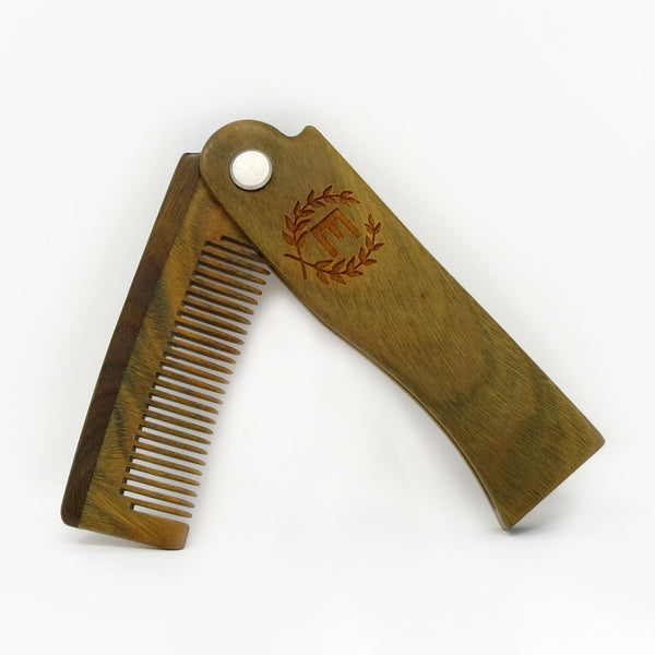 Folding Beard Comb Personalized