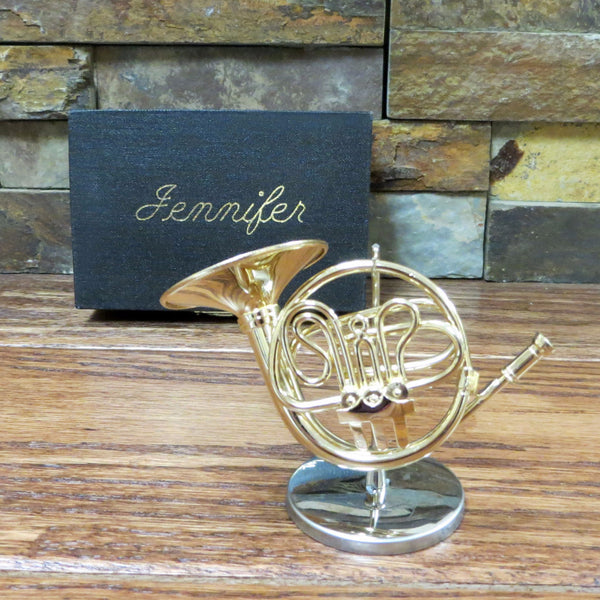 Mini French Horn w/ Personalized Case