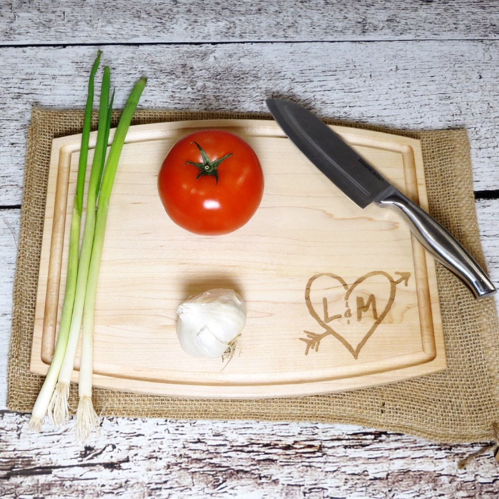 Arrow with Heart Custom Cutting Board