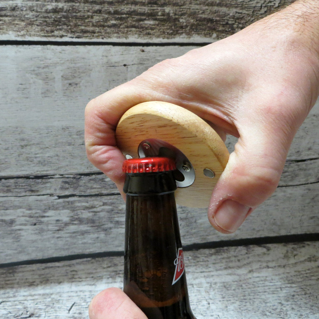 Personalized Magnetic Wooden Bottle Opener