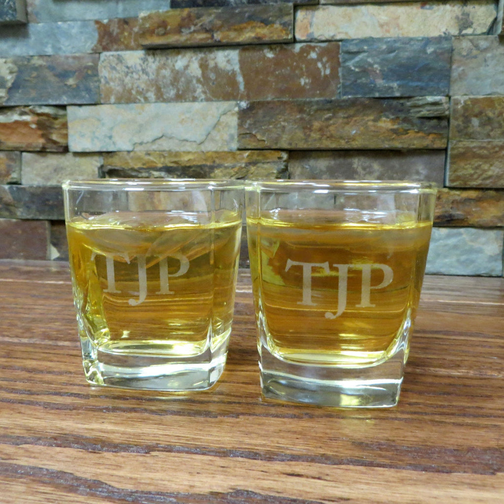 Personalized Whiskey Rocks Glass