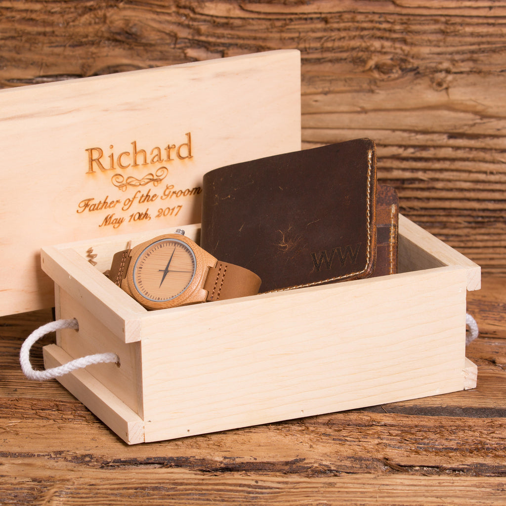 Personalized Wallet and Watch Set