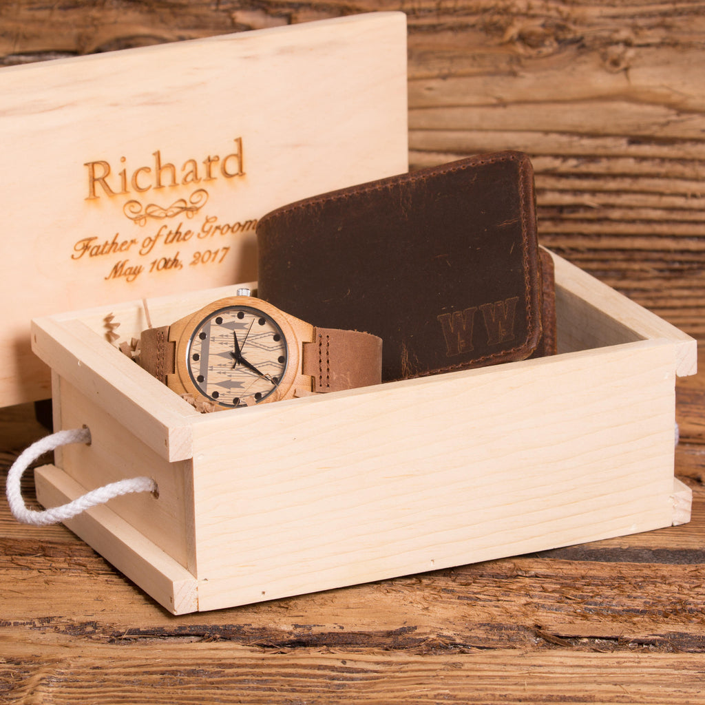 Gift Set Personalized Wallet and Watch
