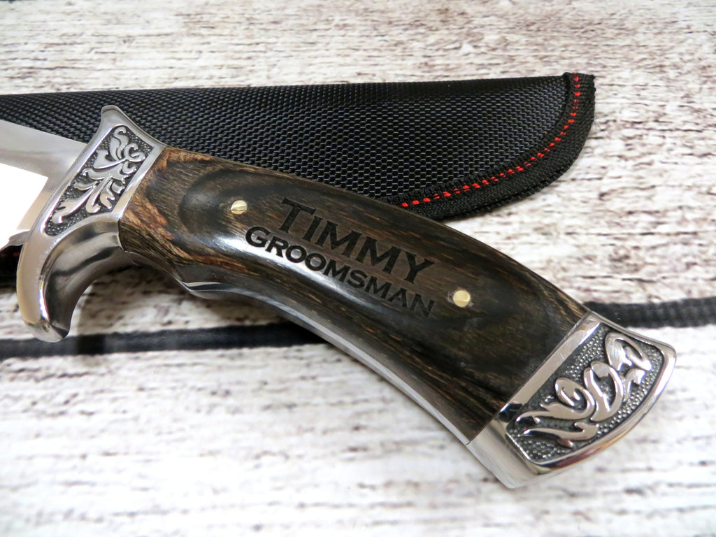 Personalized Engraved Fixed Blade Hunter Knife