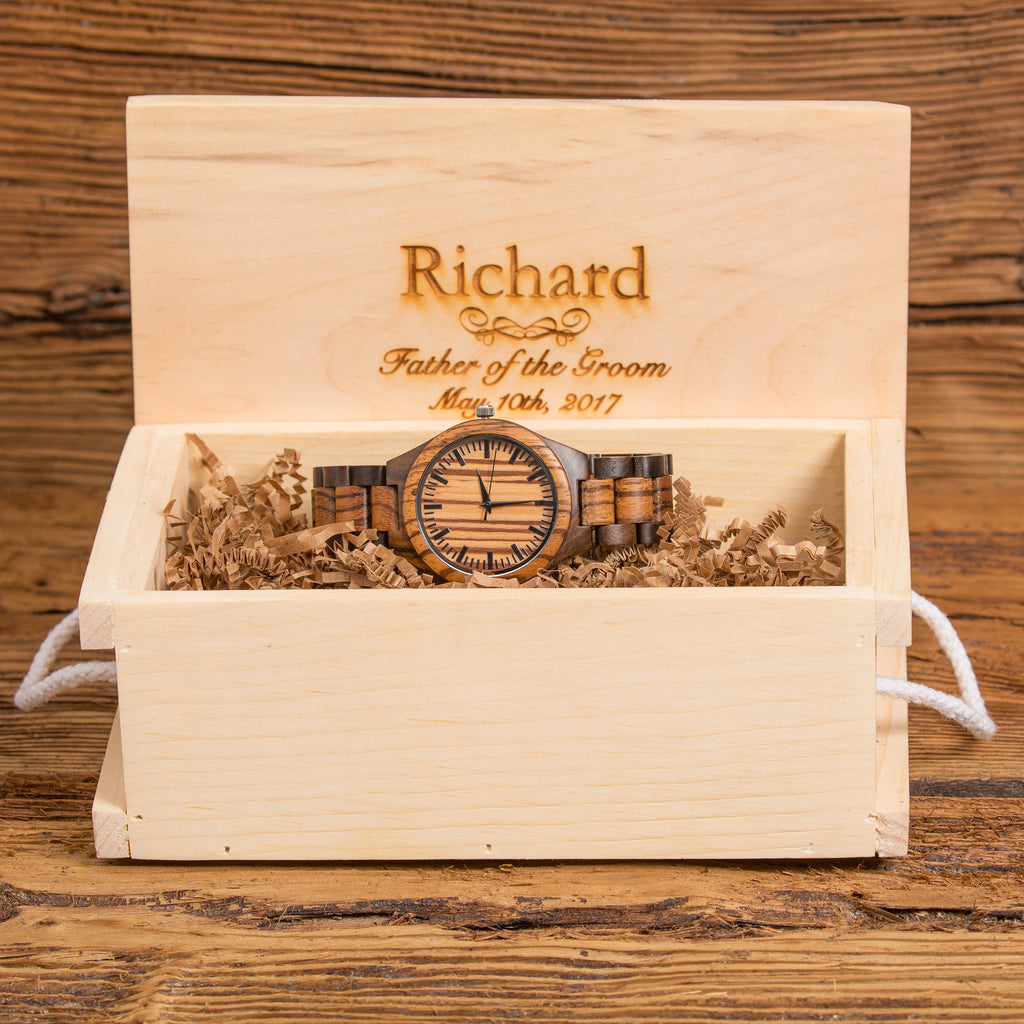 Personalized Wooden Wrist Watch for Men