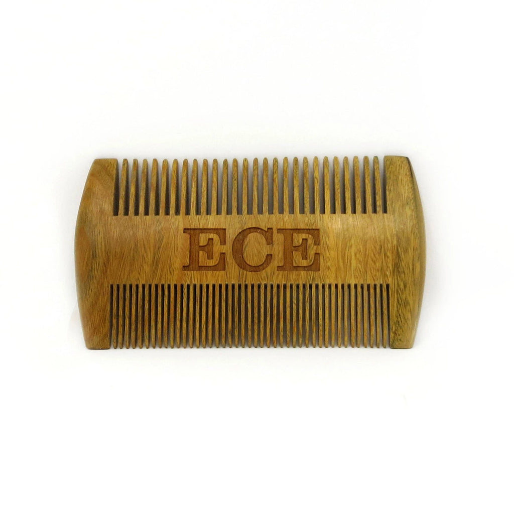 Personalized Unique Double Sided Wooden Beard Comb