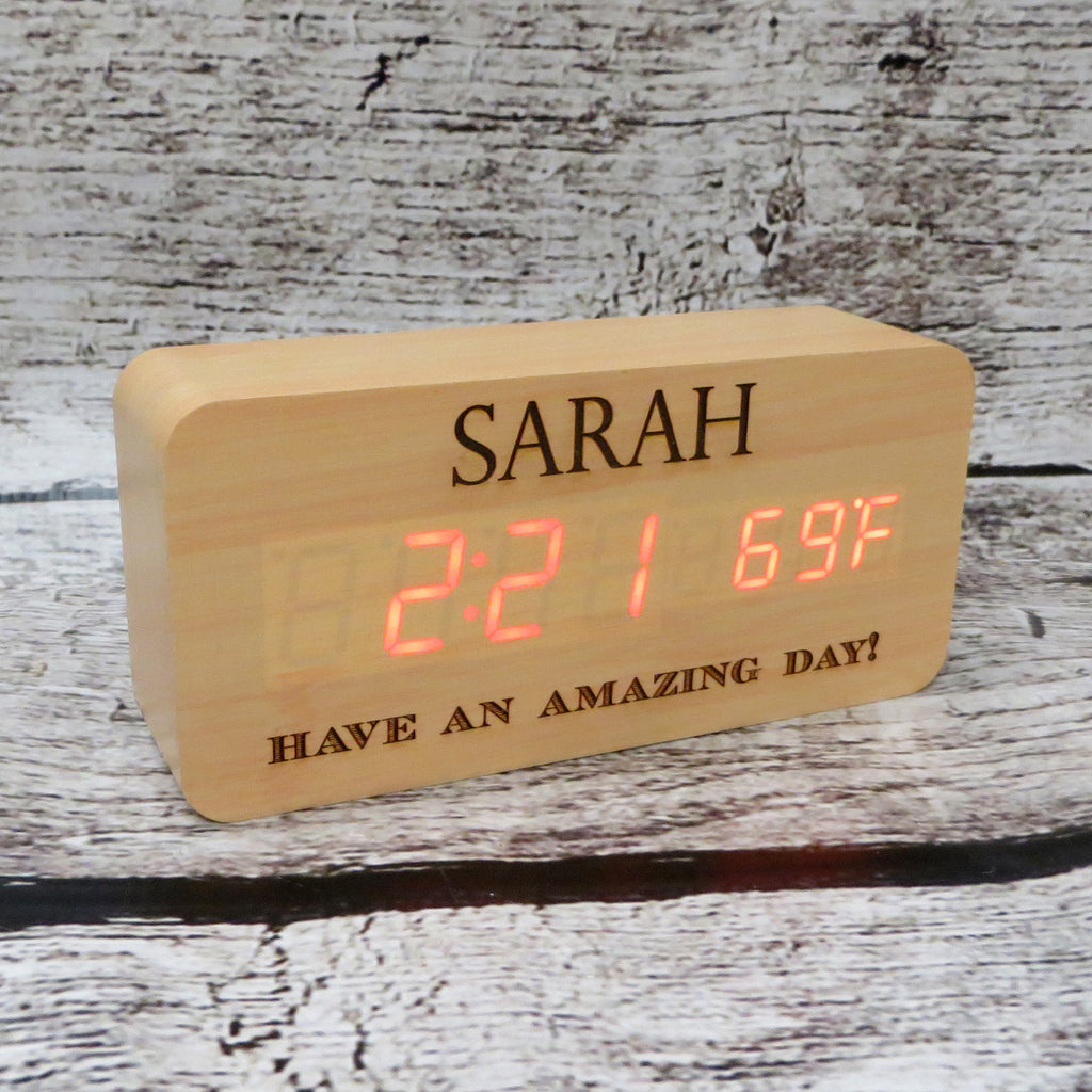 Personalized Maple Wooden Clock