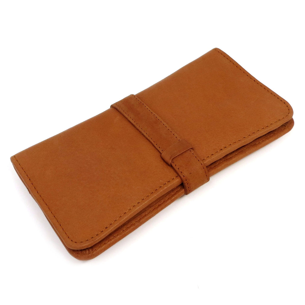 Leather Womens Wallet Monogrammed with Snap