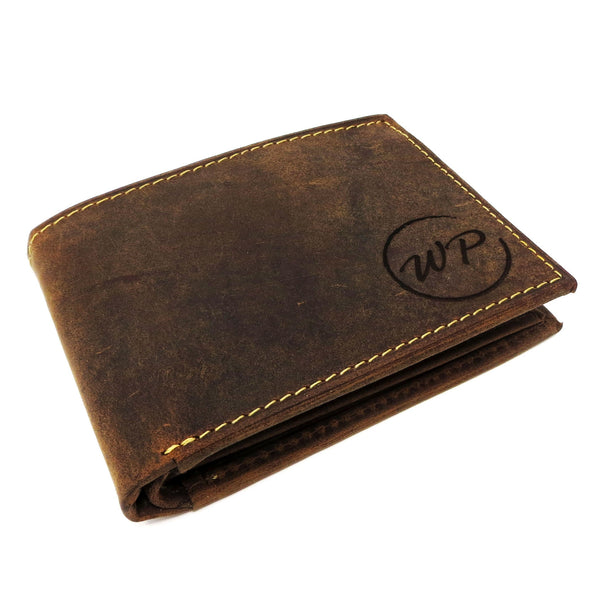 Genuine Leather Mens Bi-Fold Wallet