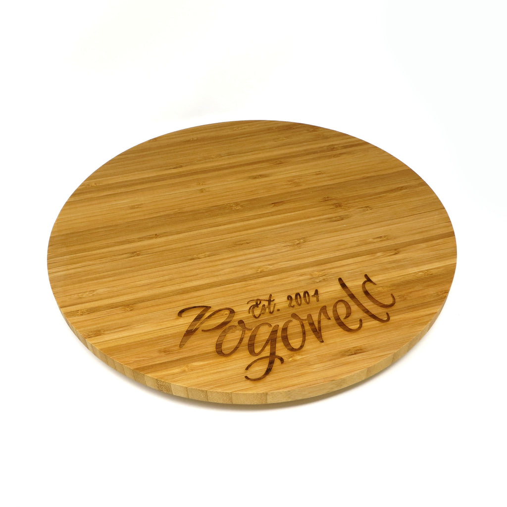 Personalized Wood Lazy Susan