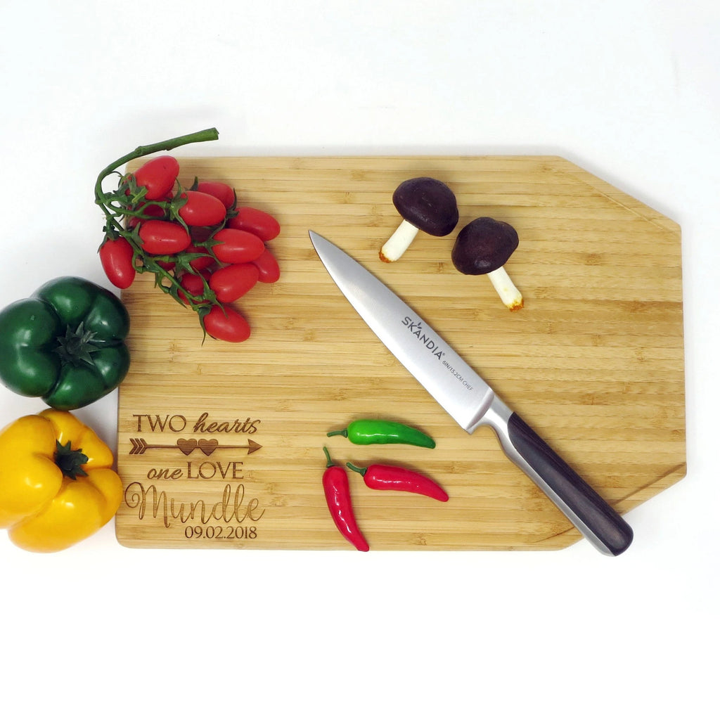 Personalized Bamboo Angled Cutting Board