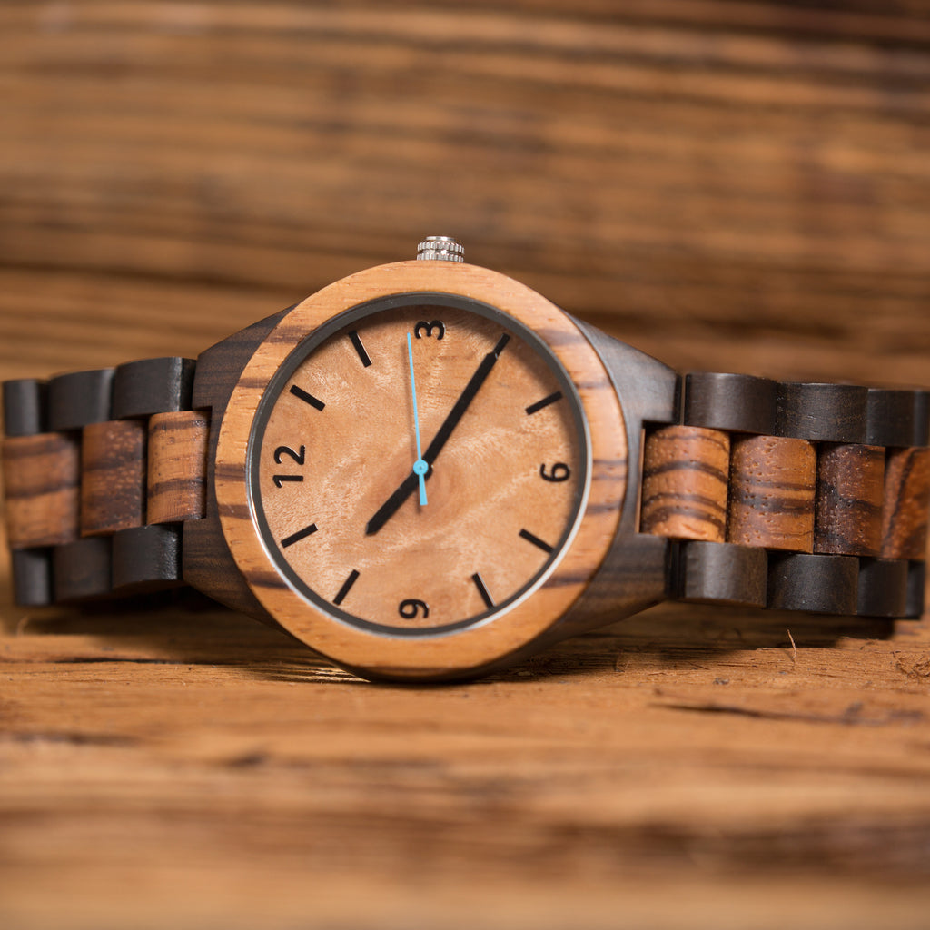 Personalized Mens Wooden Wrist Watch