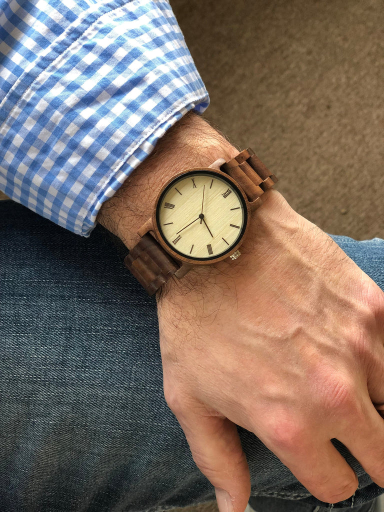 Custom Engraved Wooden Wrist Watch