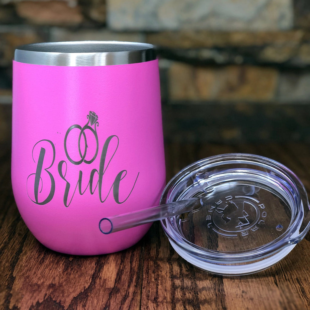 Engraved Stainless Steel Vacuum Insulated Wine Tumbler