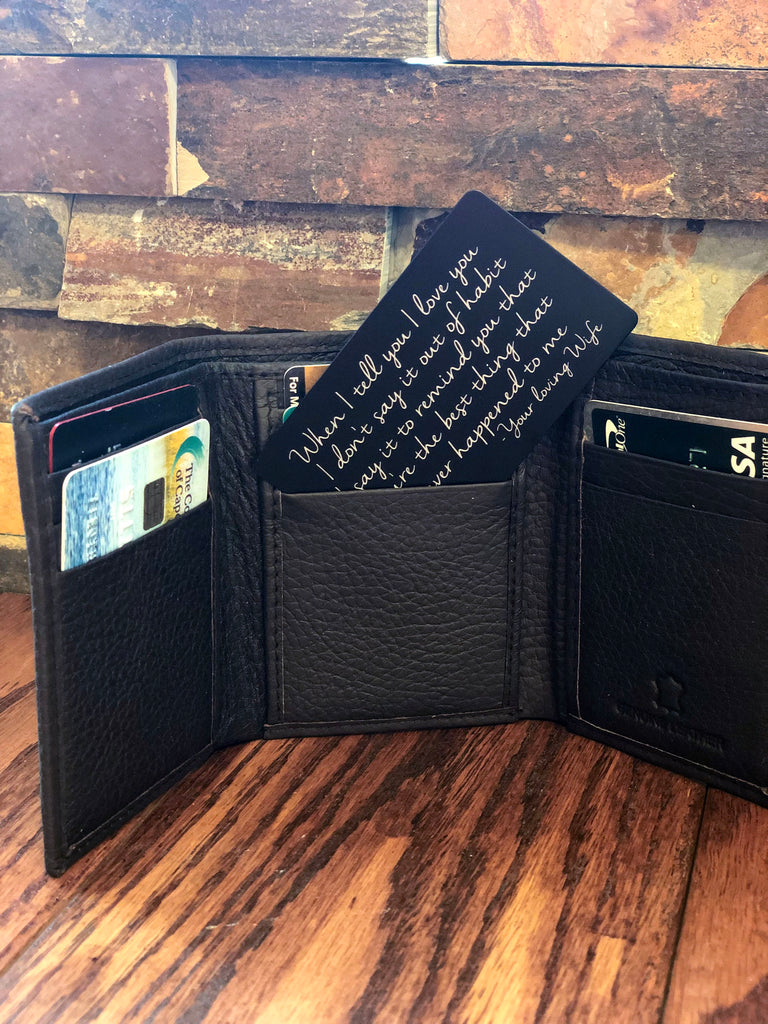 Personalized Wallet Note Card Insert
