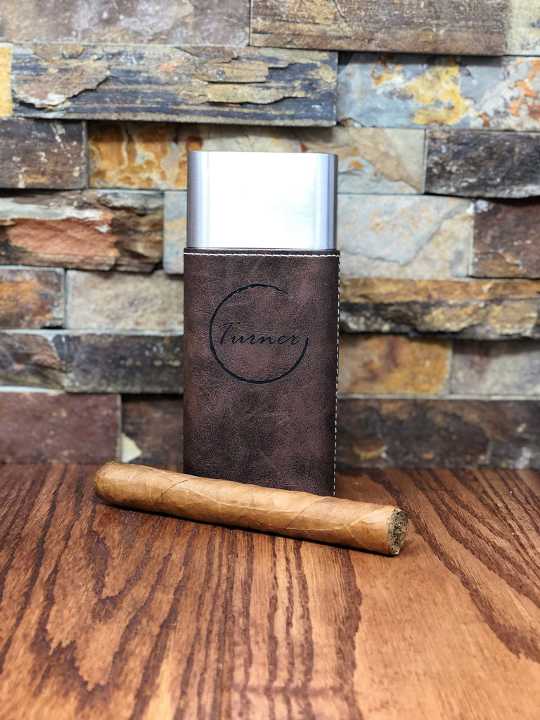 Custom Cigar Case with Guillotine Cutter