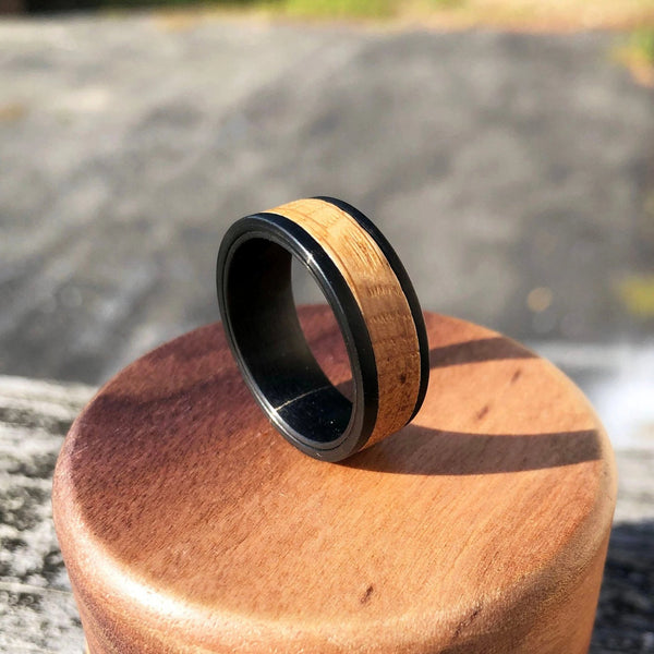 Ultimate Men's Wood and Tungsten Ring