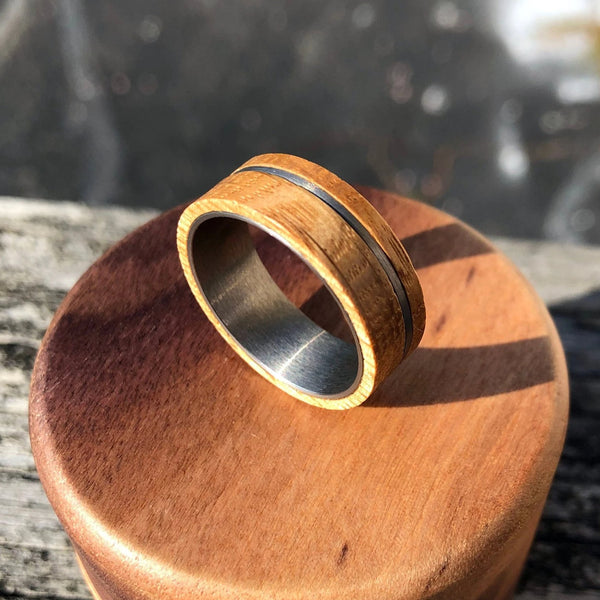 Wood and Tungsten Wedding Band for Men