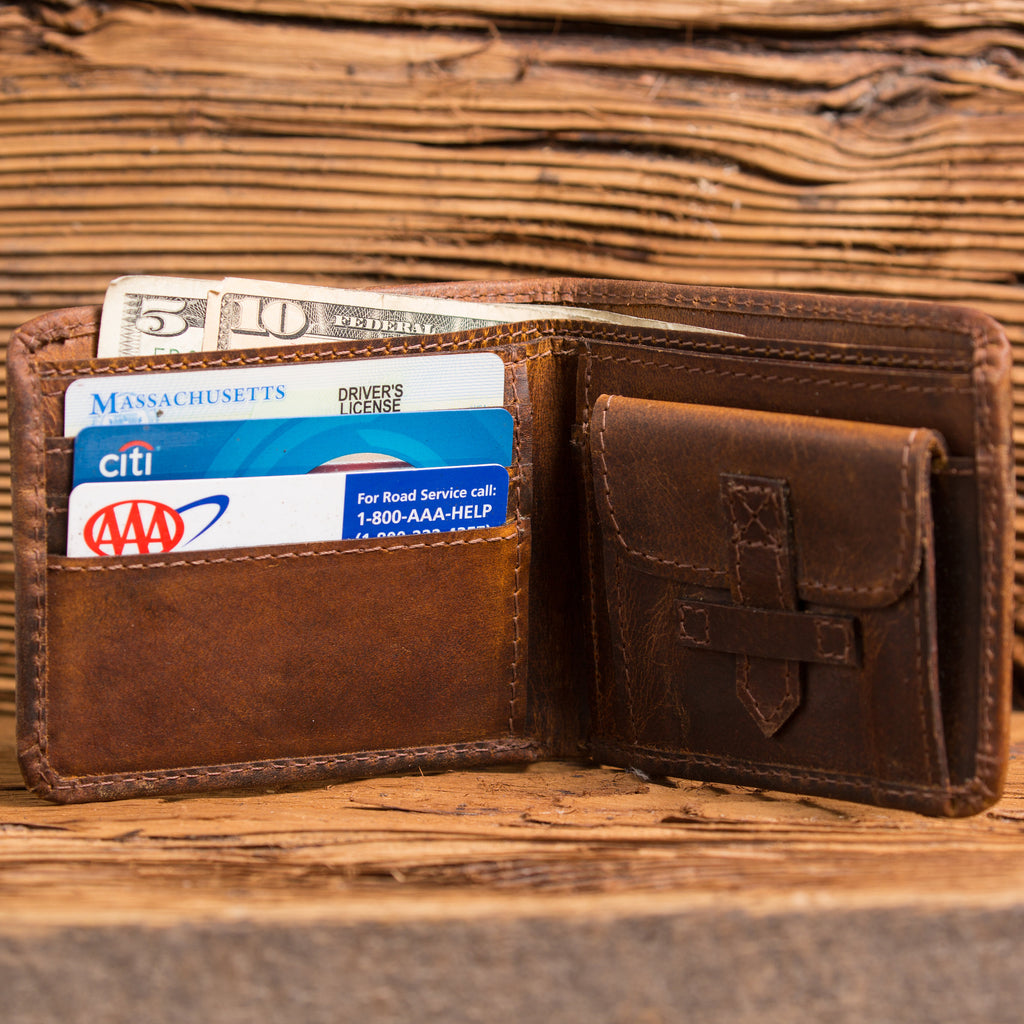 Monogrammed Wallet with Coin Pocket