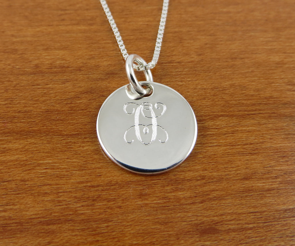 Mini Sterling Silver Monogram Necklace