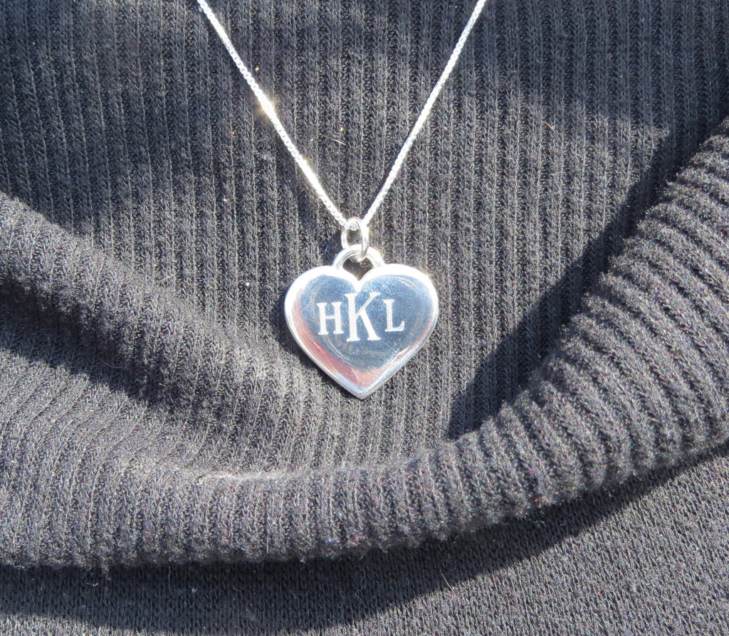 Monogrammed Heart Necklace