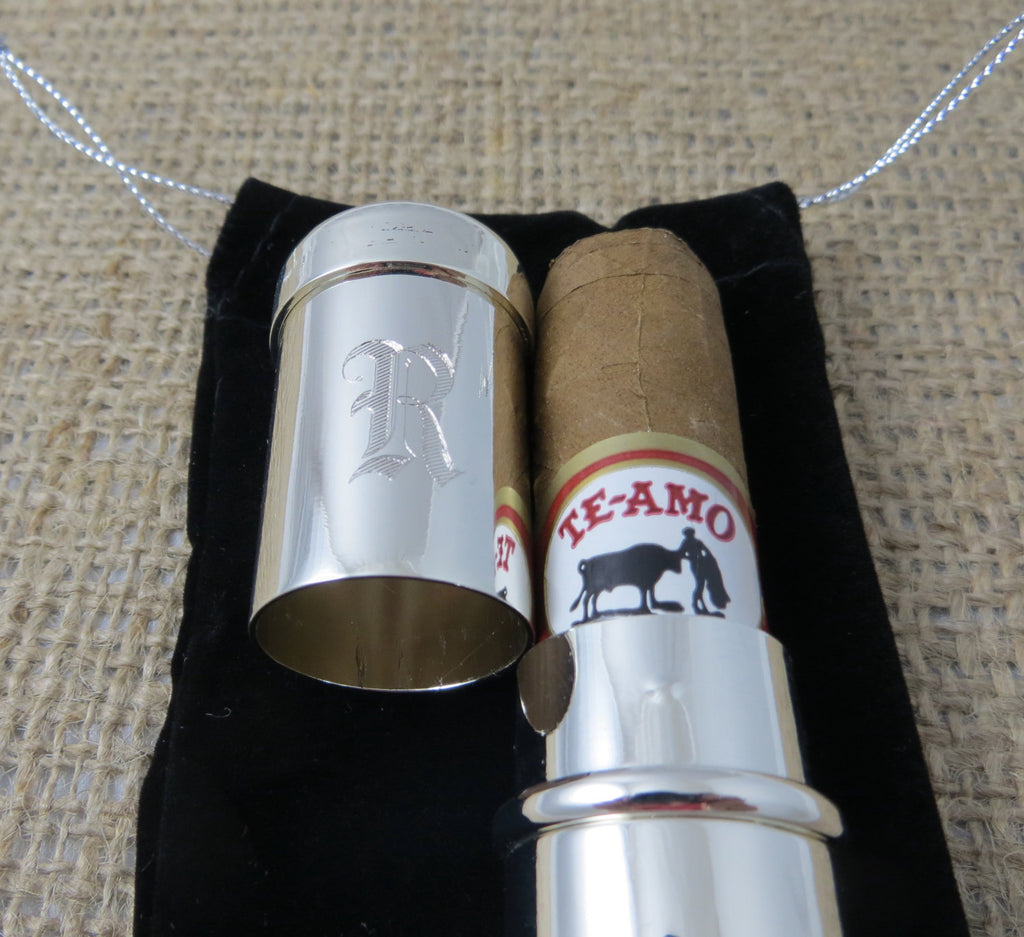 Personalized Single Cigar Holder