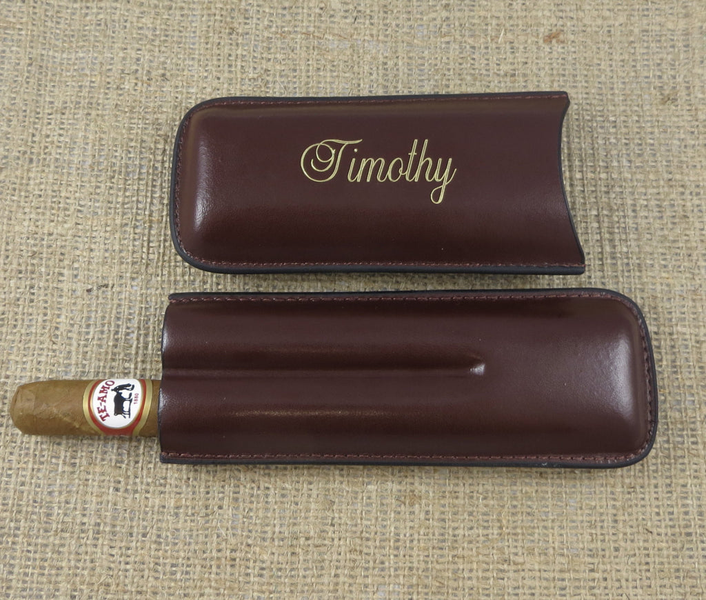 personalized cigar case with cutter  u2013 donebetter