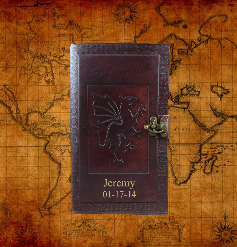 Personalized Leather Dragon Journal