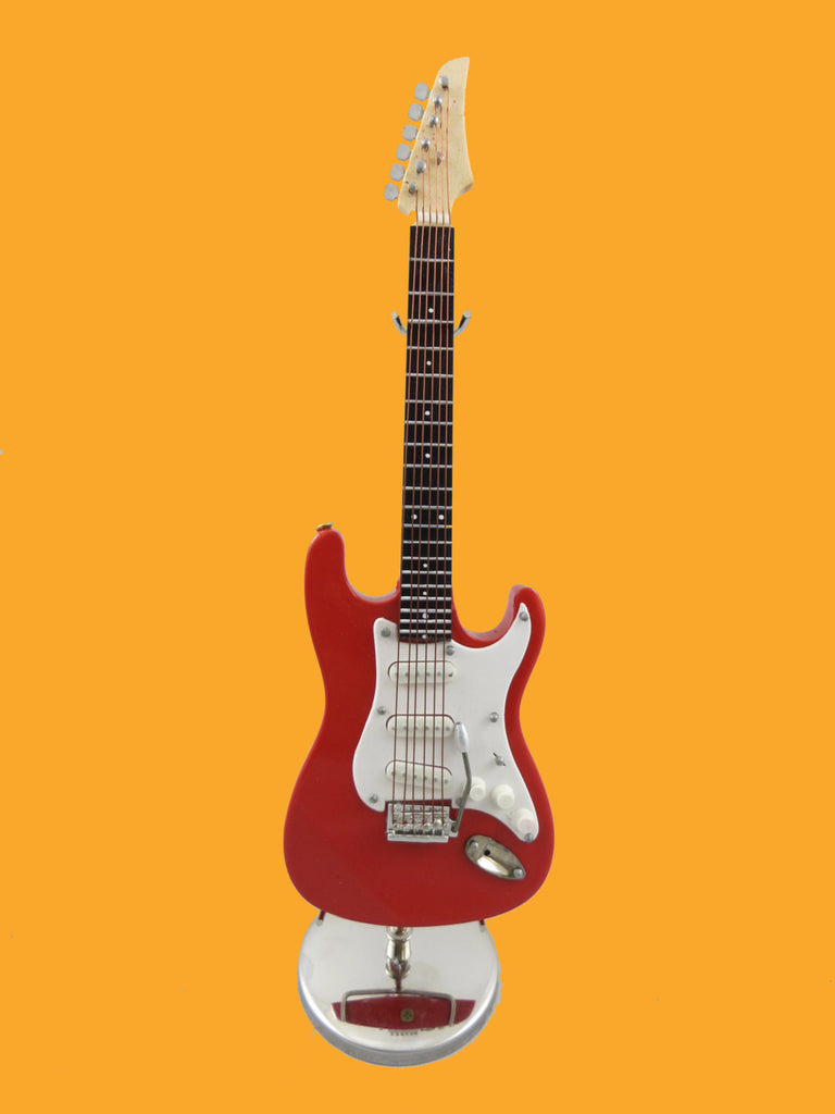 Mini Red Electric Guitar w/ Personalized Case