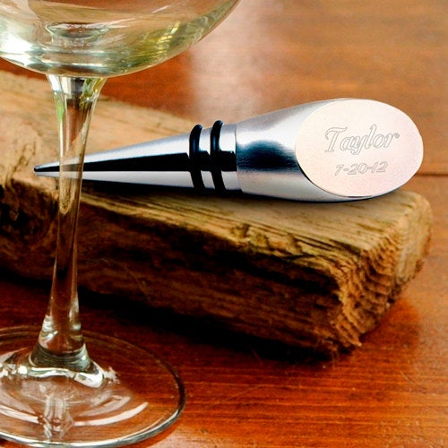 Wine Bottle Stopper - Engraved - Personalized - Wedding Gift-  Home Gift- Kitchen(189)