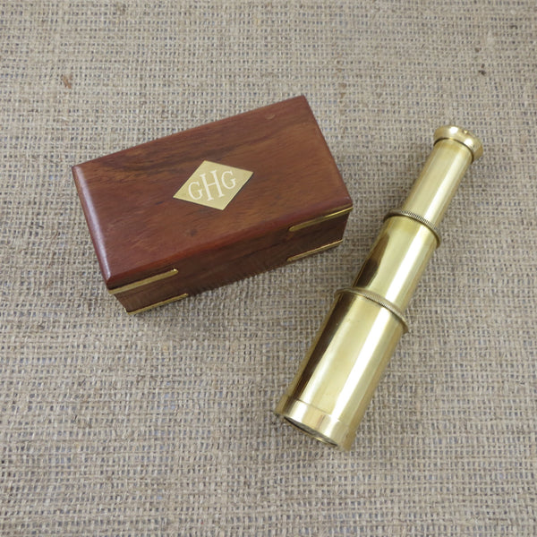 Brass Telescope Personalized Nautical Gift